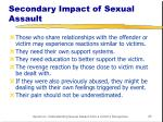 secondary impact of sexual assault