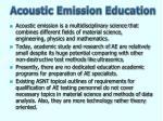 acoustic emission education