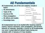 ae fundamentals
