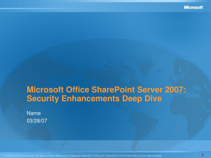 Microsoft Office SharePoint Server 2007: