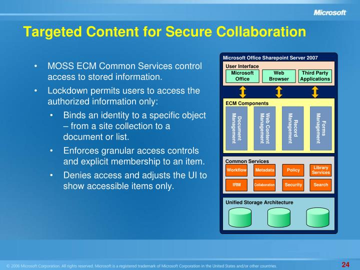 Targeted Content for Secure Collaboration