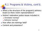 r j programs victims cont d16
