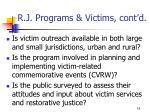 r j programs victims cont d18