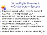 victim rights movement a contemporary synopsis