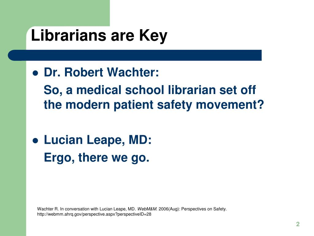 Librarians are Key