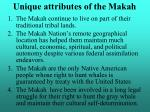 unique attributes of the makah