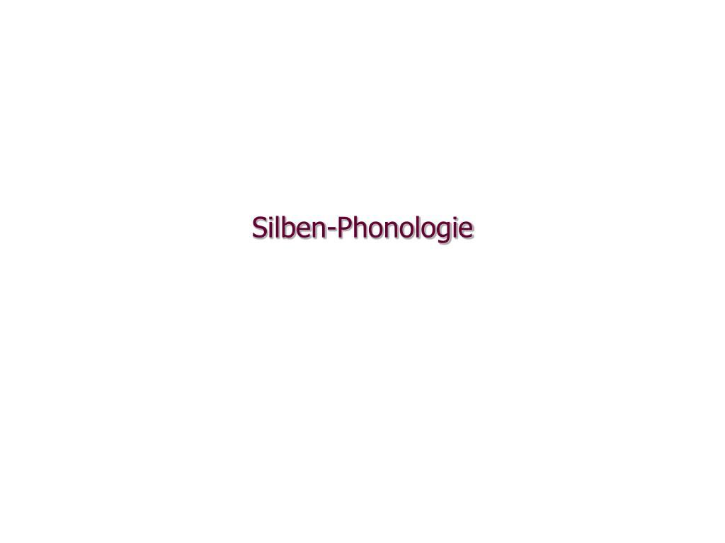 silben phonologie l.
