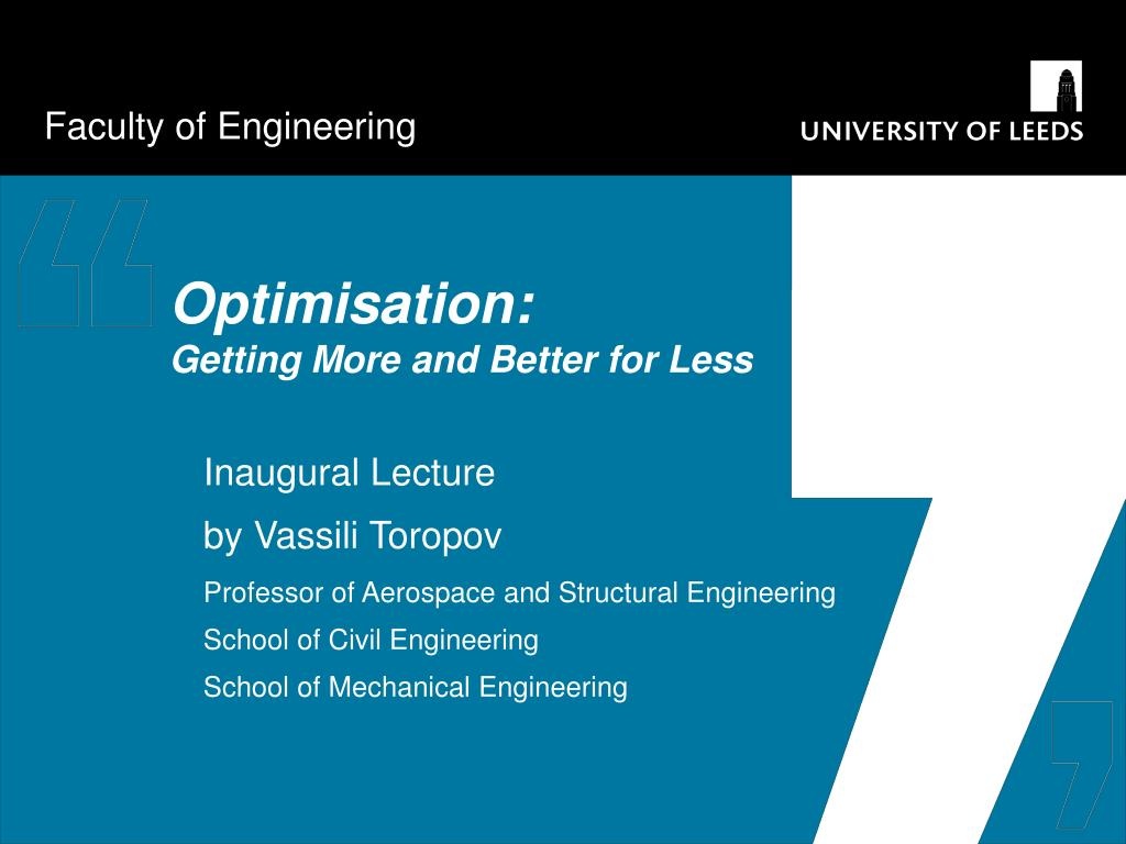 optimisation getting more and better for less l.