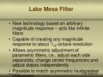 lake mesa filter