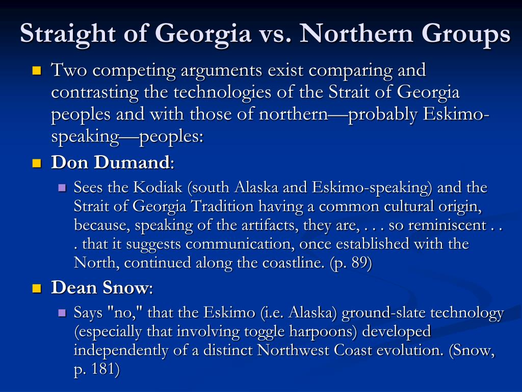 Straight of Georgia vs. Northern Groups