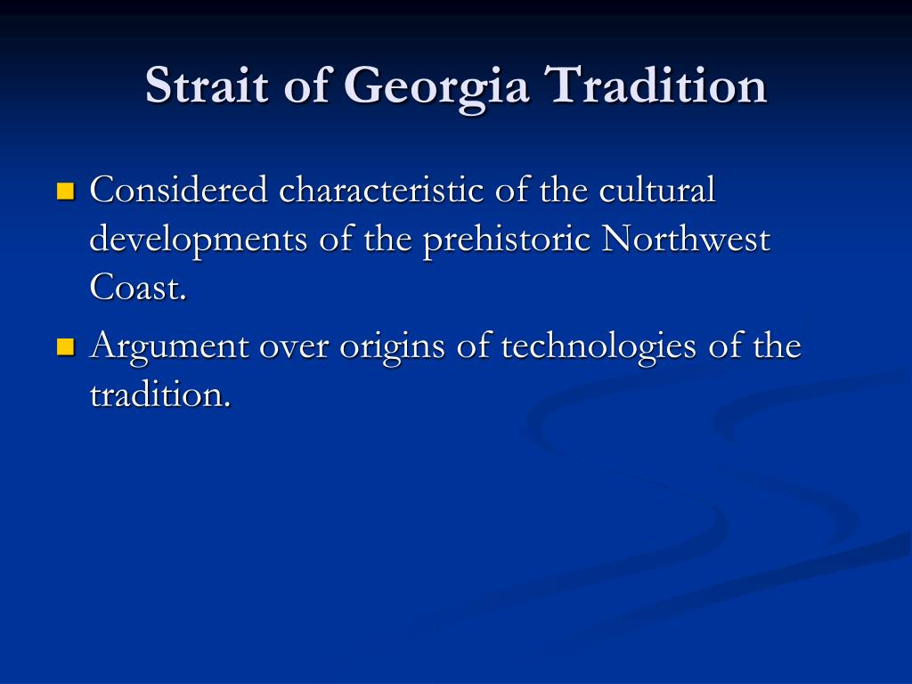 Strait of Georgia Tradition