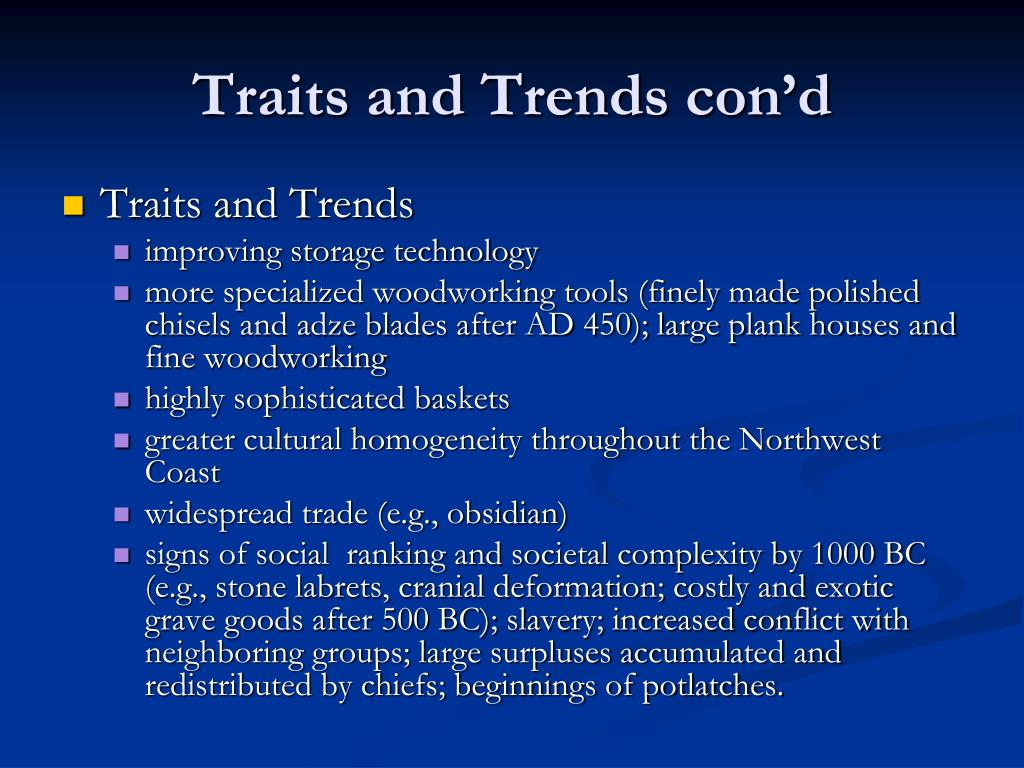 Traits and Trends