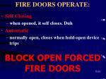 fire doors operate