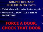 golden rules of forced entry cont