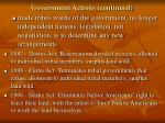 government actions continued