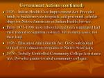 government actions continued3