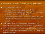 government actions toward native americans1