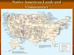native american lands and communities