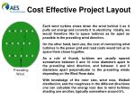 cost effective project layout