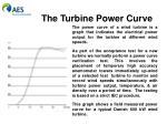 the turbine power curve