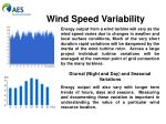 wind speed variability