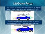 lift down force