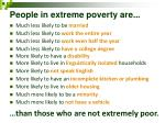 people in extreme poverty are