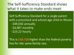 the self sufficiency standard shows what it takes to make ends meet