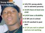 young adults in extreme poverty