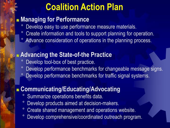 Coalition Action Plan