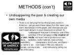 methods con t