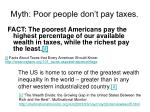 myth poor people don t pay taxes