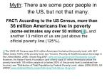 myth there are some poor people in the us but not that many