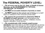 the federal poverty level