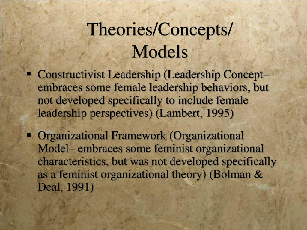 Theories/Concepts/