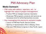 pmi advocacy plan8