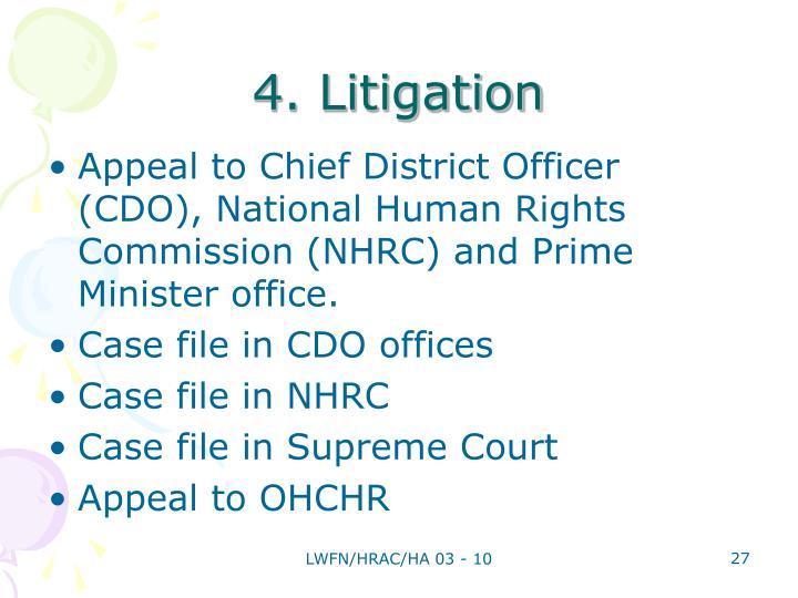 4. Litigation