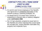 certact pte ltd v tang siew choy ors 1991 4 clj 716