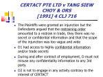 certact pte ltd v tang siew choy ors 1991 4 clj 71673