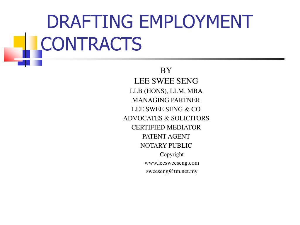 drafting employment contracts l.