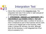 intergration test