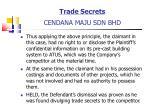 trade secrets cendana maju sdn bhd