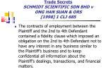 trade secrets schmidt scientific sdn bhd v ong han suan ors 1998 1 clj 685