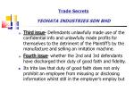 trade secrets yeohata industries sdn bhd63