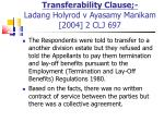 transferability clause ladang holyrod v ayasamy manikam 2004 2 clj 697
