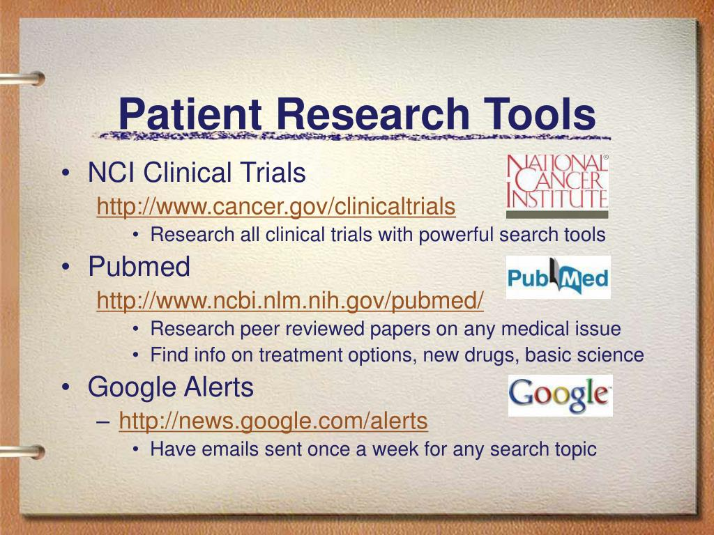 Patient Research Tools