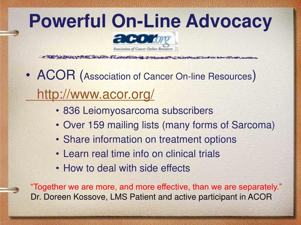 Powerful On-Line Advocacy