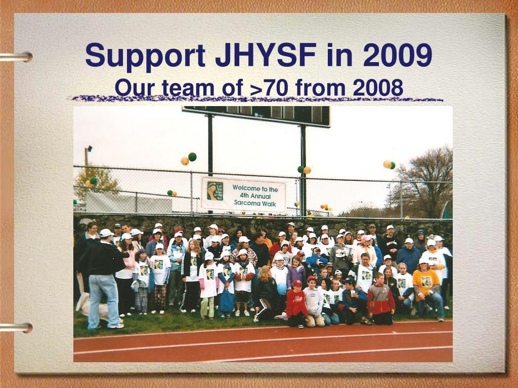 Support JHYSF in 2009