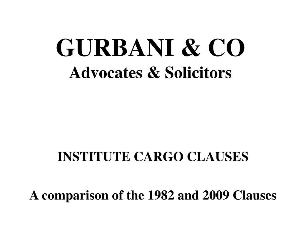 gurbani co advocates solicitors l.