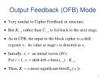 output feedback ofb mode